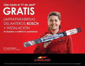 Carglass – lanza campaña escobillas delanteras Bosch